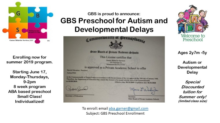 prechool announcement summer 2019